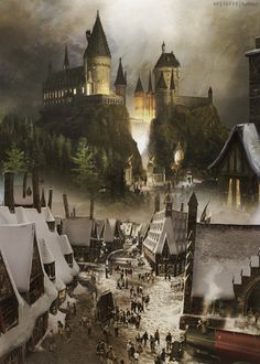 Hogsmeade at the wizarding world of Harry potter... My favorite place in the world!
