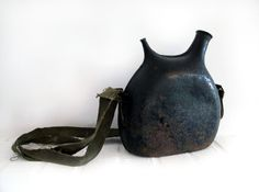 // vintage french water canteen