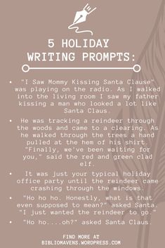 5 Holiday Writing Prompts for Ideas and Inspiration for Writers