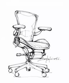 Furniture Design Wooden Kitchen - Contemporary Office Furniture Design - Vintage Furniture Videos Repurposed Shabby Chic - Rustic Outdoor Furniture How To Make - Furniture Makeover Videos Desk Vanities Interior Design Sketches, Industrial Design Sketch, Sketch Design, Sketch Inspiration, Design Inspiration, Chair Drawing, Drawing Sketches, Drawings, Manga Drawing