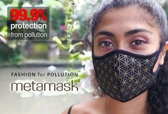 Fashion for Pollution, with NZ nank filter technology, Italian design, organic fabric, hand made in Bali #antipollutionmask