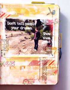Get Messy || art journal challenge by Olya Schmidt