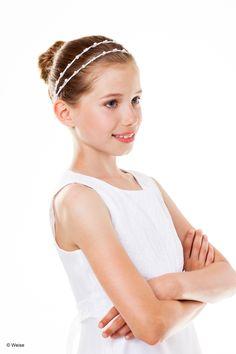 Haarband - Kommunion - weiß      Haarband für Mädchen von Weise     Farbe: weiß