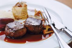 Classic French Bordelaise Sauce Recipe - Tenderloin, savory sauce and fork on plate, close-up