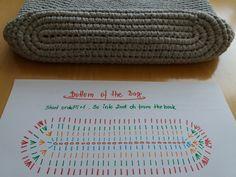 Size: width cca x height cca adjustable handle cca 120 cm shoulder handle drop cca 60 cm lo. How to crochet an oval bottom for bags Not only about Crochet .Pretty Photo of Crochet Oval Pattern Crochet Oval Pattern Emmhouse T Shirt Yarn Cross Body Bag Free Crochet Purse Patterns, Crochet Tote, Crochet Handbags, Crochet Purses, Crochet Yarn, Crochet Wallet, Crochet Backpack, Pattern Sewing, Crochet Ideas