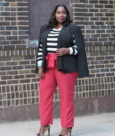 My Perfect Plus Size Spring Pant And Cape Jacket Plus Size Fasion, Plus Size Fall Fashion, Plus Size Outfits, Autumn Fashion, Curvy Plus Size, Plus Size Women, Diva Fashion, Curvy Fashion, Cape Jacket