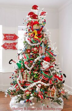 decorated christmas tree photo raz north pole village shop for ornaments decorations ribbon - Best Christmas Tree Decorations