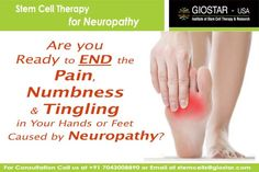 #Stem #Cell #Treatment for #Neuropathy  Neuropathy is a medical term referring to disorders of the nerves of the peripheral nervous system (specifically excluding encephalopathy and myelopathy, which pertain to the central nervous system). Know more visit : http://www.giostar.com/ OR email at stemcells@giostar.com