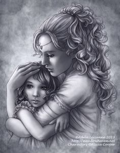 A Mother's Love artist Adele Lorienne Colouring Pages, Adult Coloring Pages, Coloring Book, Fantasy Couples, Elfa, Portraits, Mothers Love, White Art, Love Art