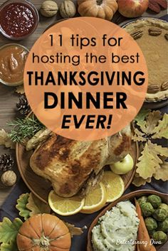 If you're hosting Thanksgiving dinner for your family this year, these tips will help make it the best holiday dinner ever (even if you're hosting Thanksgiving for the first time). Hosting Thanksgiving, Thanksgiving Table Settings, Thanksgiving Parties, Thanksgiving Sides, Thanksgiving Appetizers, Appetizers For Party, Thanksgiving Recipes, Holiday Recipes, Happy Thanksgiving