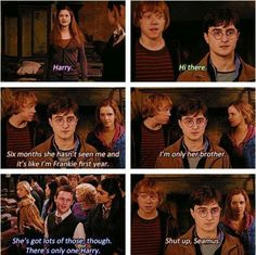 This part of Part 2 is my absolute favorite part of the movie. It's kinda funny how Harry seems almost catatonic when faced with Ginny.