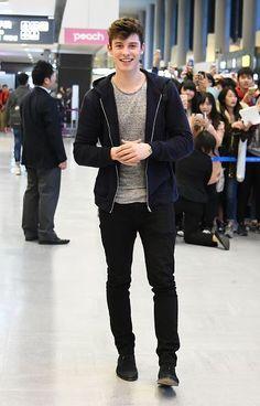 FEBRUARY 25: Shawn Mendes is seen upon arrival at the Narita International Airport in Narita, Japan. (MQ)