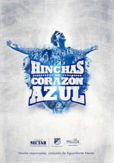 Hinchas de Corazón Azul / Campaña para Millonarios on Behance