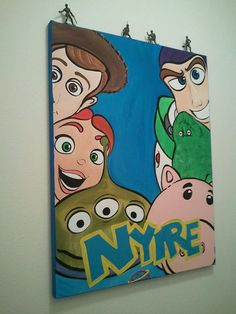 Large 22 x 28 Canvas Wall Art Toy Story by SaltyInspirations, $60.00