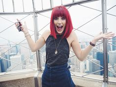 Empire State Building View, Red Hair With Bangs, Hairstyles With Bangs, Redheads, New York City, Blog, Fun, Fashion, Bang Hairstyles