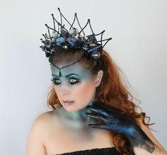 Dark Mermaid Crown Shell Crown Mermaid by OnGossamerWings on Etsy