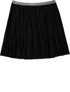Girls Pleated Jersey Skirts