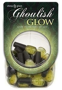 China Glaze Ghoulish Glow Top Coat, Mini .125 oz.