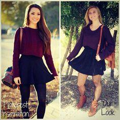 Apricot Lane Boutique- San Antonio #cropped #maroon #littleblackskirt #fishnets #fall