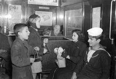 singing Christmas carols in the metro in Athens in 1953