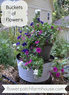 Buckets of Flowers