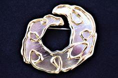 "Vintage Park Lane Boho Statement Brooch Geometric Modernist Signed Retro Costume Jewelry 2.5"" by DecoOwl on Etsy"