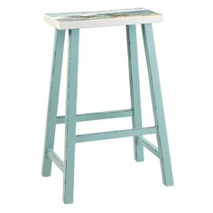 Beach Island Bar Stool Sky Blue With Seat Painting Set of 2 29 , Available with beautiful!!!!! painted seats!!!!. $325 for 2