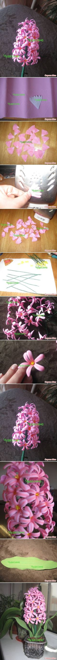 DIY Hyacinth Flower DIY Projects | UsefulDIY.com Follow Us on Facebook ==> http://www.facebook.com/UsefulDiy