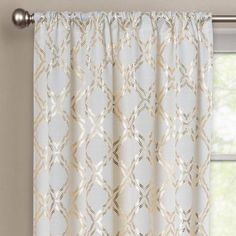 Better Homes and Gardens Metallic Trellis Gold Foil Curtain Panel Image 3 of 15 Gold Curtains, Panel Curtains, Gold And White Curtains, Elegant Curtains, Better Homes And Gardens, My Living Room, Living Room Decor, Gold Bedroom Decor, Bedroom Furniture