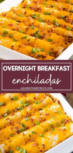 Overnight breakfast enchiladas breakfastcasseroles overnight breakfast enchiladas ~ tortillas stuffed with sausage eggs cheese and bacon! this is the perfect overnight breakfast casserole recipe! overnight breakfast casserole with hashbrows and cheese Breakfast Enchiladas, Overnight Breakfast Casserole, Healthy Breakfast Casserole, Mexican Breakfast Recipes, Breakfast And Brunch, Breakfast Dishes, Mexican Food Recipes, Enchiladas Healthy, Chicken Breakfast Recipes