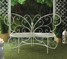 "Sale""Butterfly Garden Bench"" Your garden can become a relaxing oasis with help from this beautiful butterfly bench. $199.95"