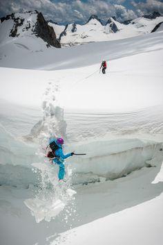 Crevasse Fall - Alex Buisse - Adventure Photography