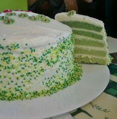 Gâteau dégradé de vert