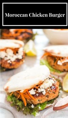 Moroccan Chicken Burgers with Feta and Carrot. Without the feta or bun though...