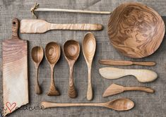 "Spoons, boards and a bowl from the ""I love nature"" workshop."