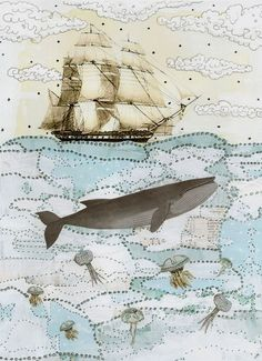 Whale Illustration Whale Painting Mixed Media by sarahogren Whale Painting, Painting Art, Whale Illustration, Merian, Nautical Art, Illustrations, Grafik Design, Beach Art, Fine Art