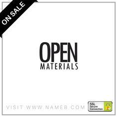 You can have the www.OpenMaterials.com today! Visit www.nameb.com for premium domain names! #StartUp #Tech #Technology #Website #Branding #SMM #SocialMedia #Business #Online #Domain #Domainname #Domains #Entrepreneur #Entrepreneurship #Marketing #Shopping