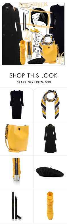 """FORMAL, Coat with striped leather collar"" by deneve ❤ liked on Polyvore featuring Iceberg, STELLA McCARTNEY, Coach, Miu Miu, Emilio Pucci, Gucci, formal and falltrend"