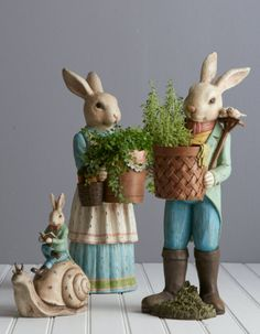 Floral abundance meets toiling bunnies, and accents to beautify your garden just in time for spring.  From the Garden Collection by RAZ Imports.