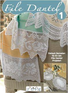 File Dantel 1 Crochet Art, Filet Crochet, Crochet Doilies, Easy Crafts, Diy And Crafts, Knitting Patterns, Crochet Patterns, Interior Design Business, Irish Lace
