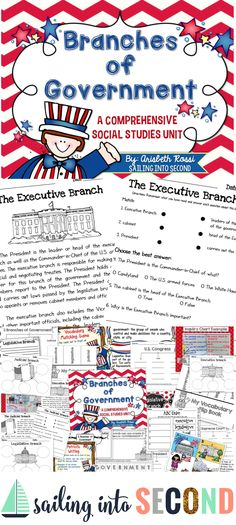 Do you need exciting and engaging social studies materials to teach the 3 Branches of U.S. Government? This unit has over 40 pages of activities your students can do!