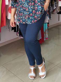 Spodnie z bengaliny Cevlar B09 kolor granatowy - Big Sister