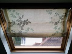 How to make Roman Blinds for Velux Windows. Office skylight cover