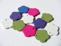 Cute wooden flower charms