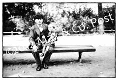 Set of 5 Black & White postcards Chauffeur, Park Bench, Eiffel Tower, Bicycle Parade, Road Rally by MaxAndCoPost,