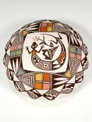 Acoma Pueblo Hand Coiled Seed Pot  by Eva Lewis