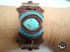 Micro macramé in turquoise chocolate and by ShantyCreekCreations