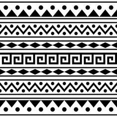 Tribal Pattern Art, Aztec Art, Aztec Tribal Patterns, Aztec Pattern Wallpaper, Indian Patterns, Aztec Designs, Black Pattern, Mandala Drawing, Mandala Art