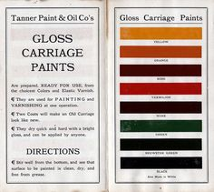 Gloss Carriage Paints
