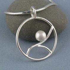 Tidal Small Sterling Silver Round by annewalkerjewelry on Etsy